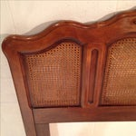 Image of French Provincial Queen Headboard with Cane Panels