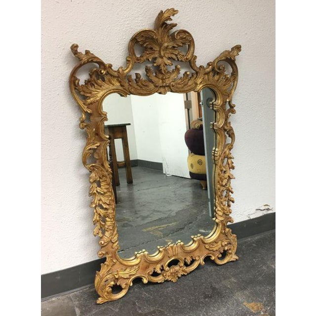 Image of La Barge Baroque Gold Leafed Wall Mirror