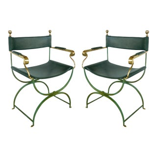 Brass Director's Chairs by Valenti, Spain- a Pair