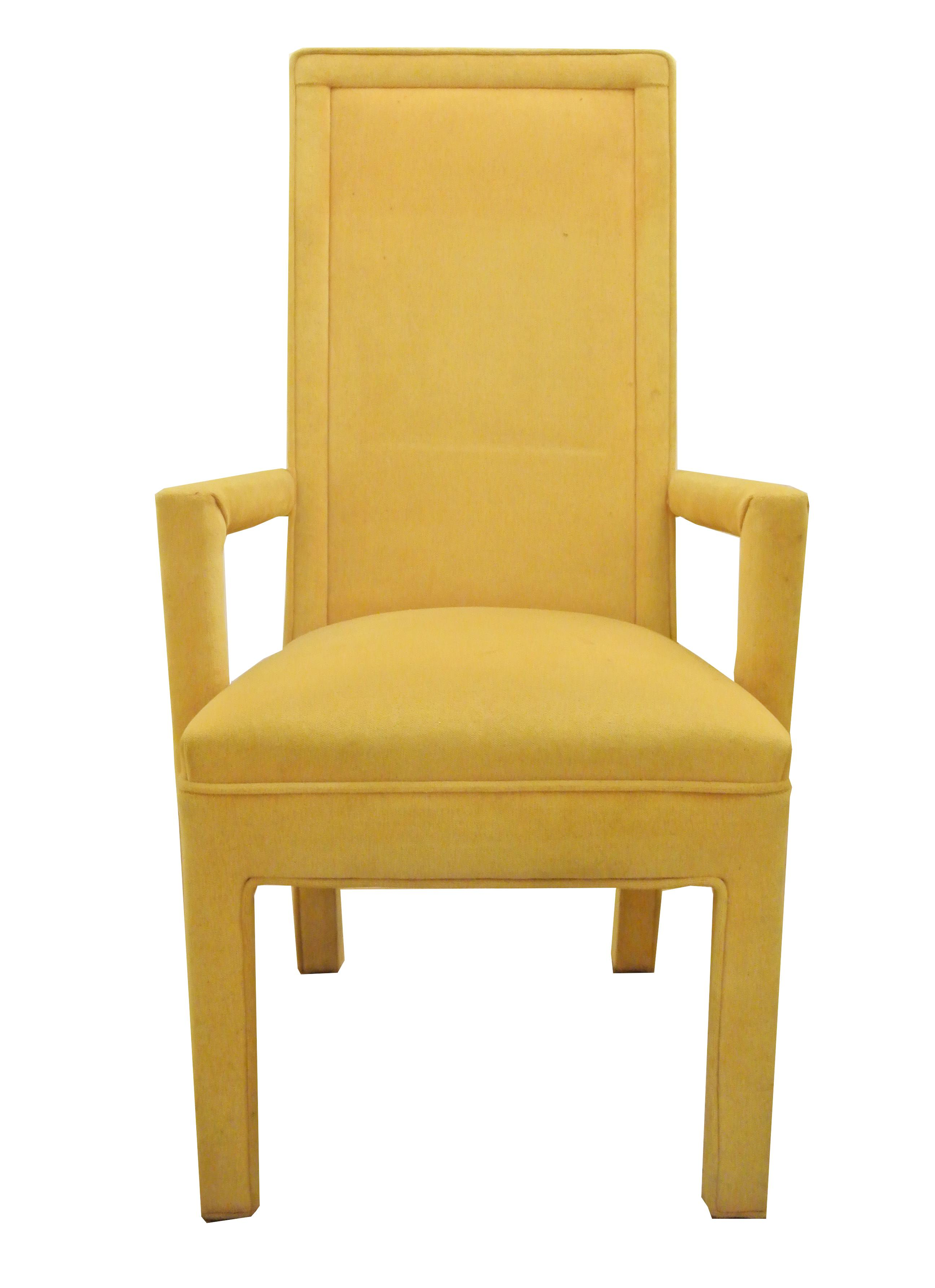 Yellow Faux Mohair Upholstered Parsons Dining Chairs Set  : yellow faux mohair upholstered parsons dining chairs set of 4 2289aspectfitampwidth640ampheight640 from www.chairish.com size 640 x 640 jpeg 22kB