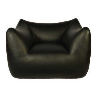 Le Bambole Black Lounge Chair by Mario Bellini