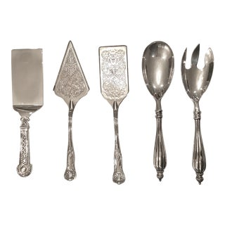 Group of Vintage Silver-Plated Serving Utensils