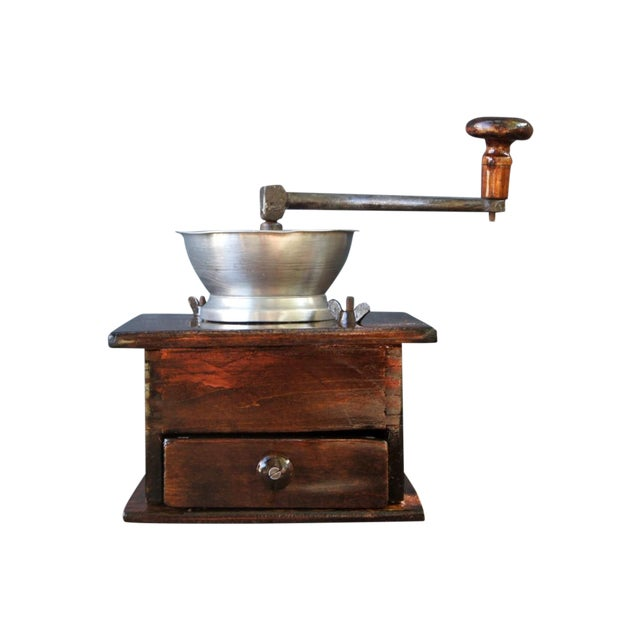 Antique Coffee Grinder ~ Charles parker antique coffee grinder mill chairish