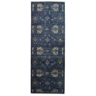 """Eclectic, Hand Knotted Runner Rug - 3' 1"""" x 8' 1"""""""