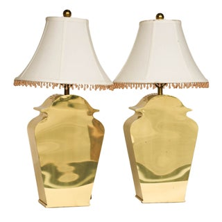 Mid-Century Chapman Brass Table Lamps - A Pair