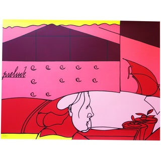 Valerio Adami Colorful Abstract Serigraph