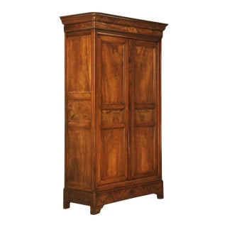 Circa 1830 French Louis Philippe Figured Walnut Armoire-Époque