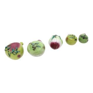 Vintage Ceramic Fruit - Set of 5