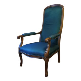 Blue Reproduction Voltaire Chair