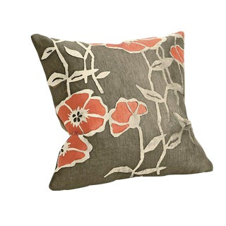 Room & Board Orange Poppy Pillow