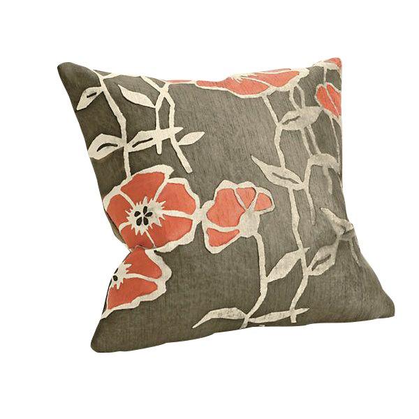 Room & Board Orange Poppy Pillow - Image 1 of 2