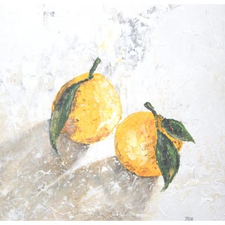 Lemon Fruit Still Life Painting by C. Plowden