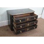 Image of French Provincial Black Painted 3 Drawer Chest