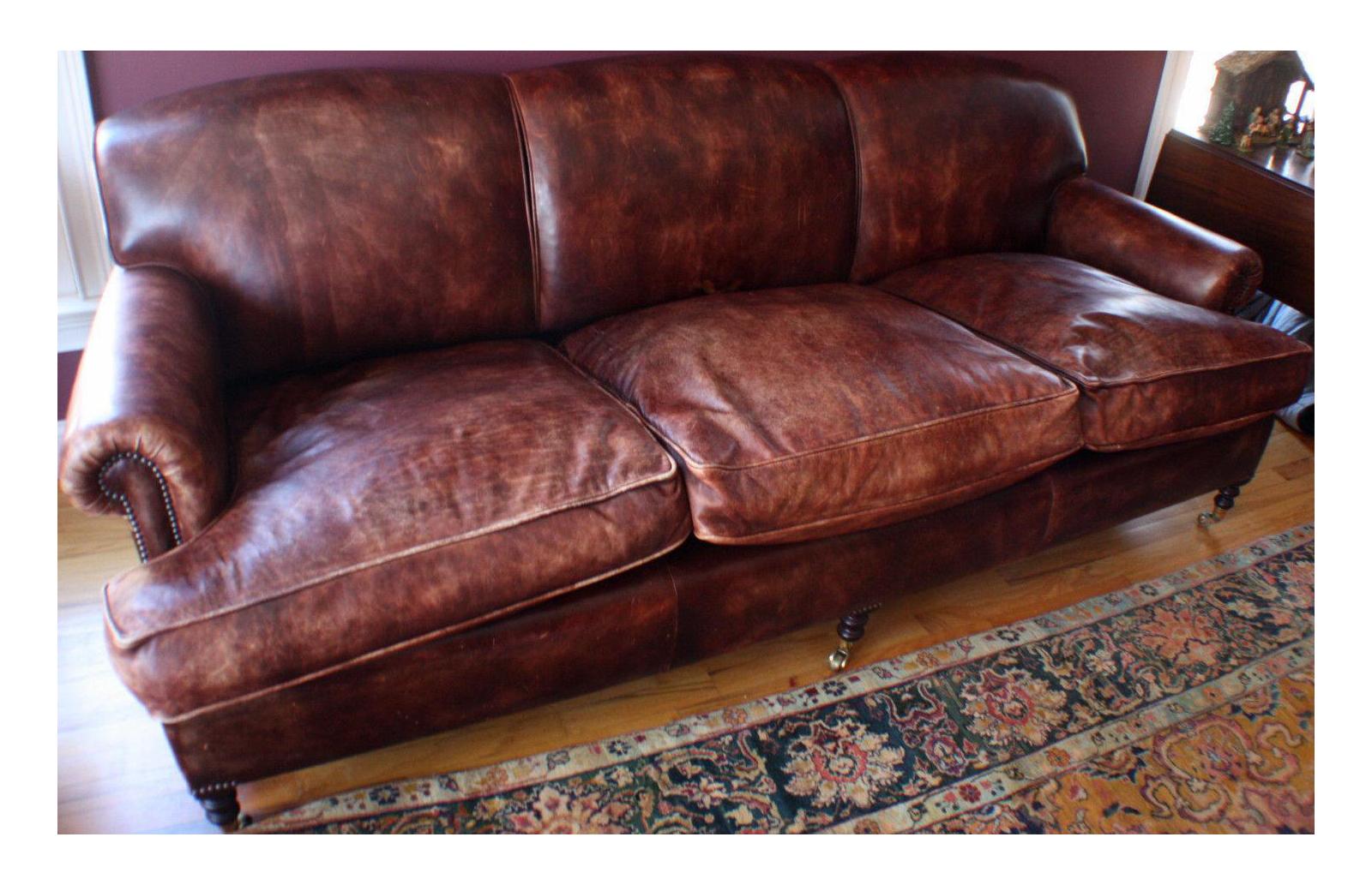 Terracotta Leather Sofa Monroe Mid Century Leather Sofa 80