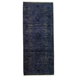 """Eclectic, Hand Knotted Runner Rug - 2' 8"""" x 6' 5"""""""