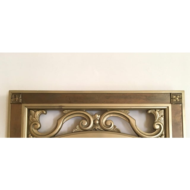 Mid-Century Modern Gilded Wood & Brass Wall Mirrors - A Pair - Image 4 of 6