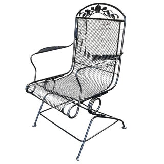 Woodard Wrought Iron High Back Gliding Lounge Chair
