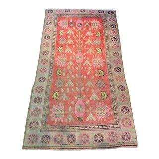 "Early 20th Century Khotan Tribal Wool Rug - 5'8"" X 10'1"