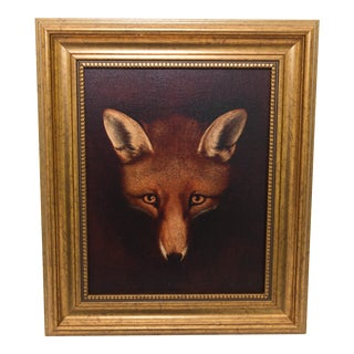 Framed Fox Painting