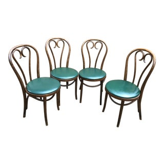 Vintage Bentwood Thonet Cafe Chairs - Set of 4