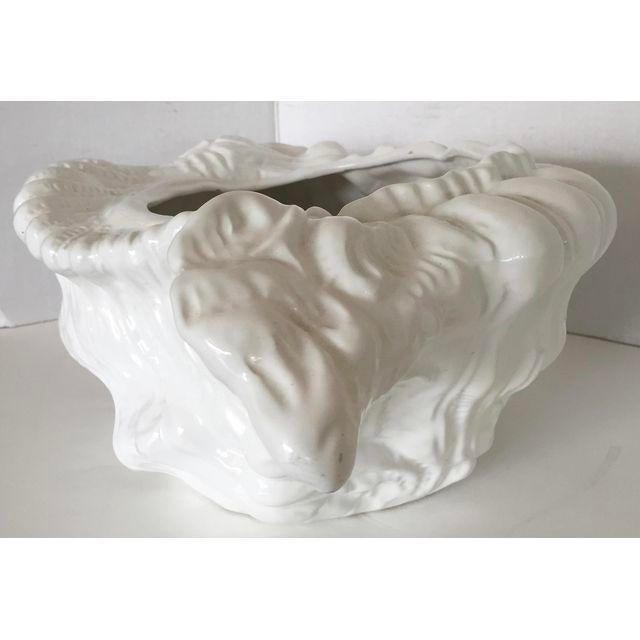White Porcelain Italian Shell Planter - Image 7 of 8