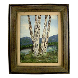 Terry Branham Painting - Lakeside Birch Trees