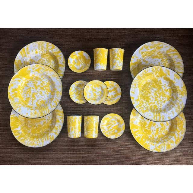 Vintage Yellow Enamelware - Set of 15 - Image 2 of 10
