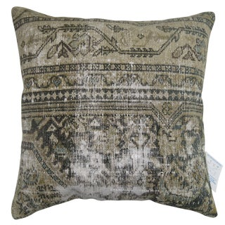 Vintage Distressed Persian Malayer Pillow