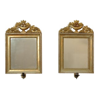 Pair of Swedish Gilded Mirrors (#63-22)