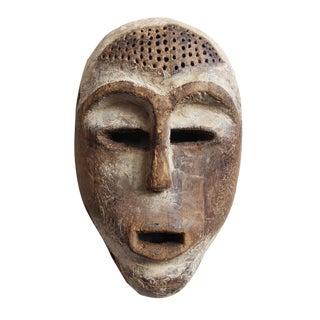 Carved Wooden African Lega Mask