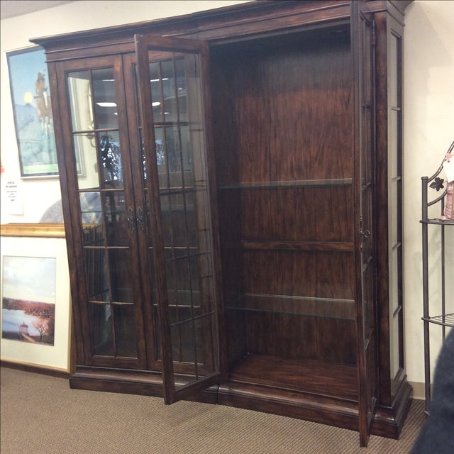 Four Door Glass Curio Cabinet - Image 5 of 7
