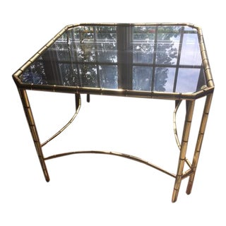 Vintage Brass Bamboo Coffee Table