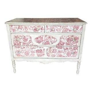 Shabby Chic Stenciled Dresser