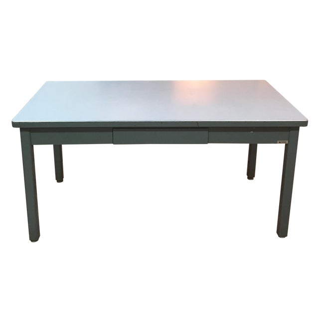 Mid-Century Haskell of Pittsburgh Industrial Table - Image 1 of 9
