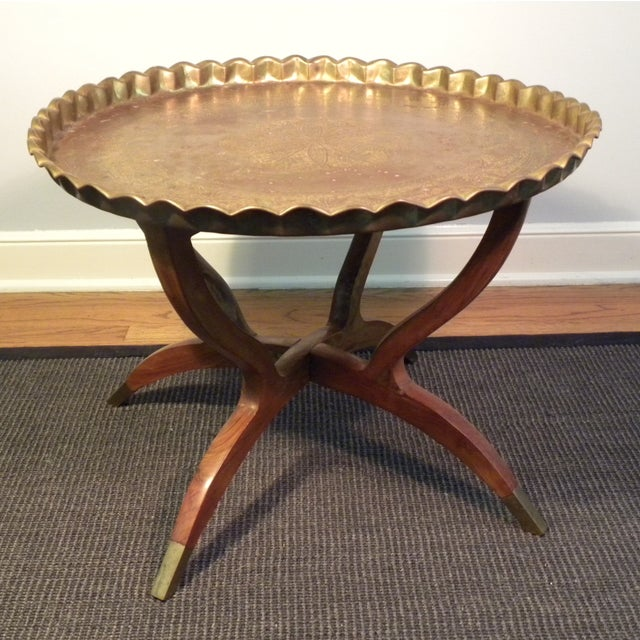 Mid Century Modern Moroccan Folding Tea Table - Image 3 of 8