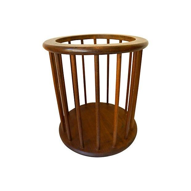 Image of Danish Modern Spindle Waste Can