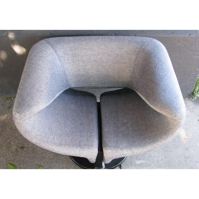 Pierre Paulin Style Ribbon Chair in Light Denim - Image 4 of 7