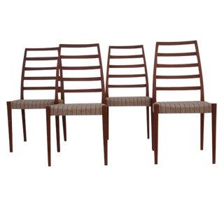 Vintage Ladder Back Svegard Chairs - Set of 4