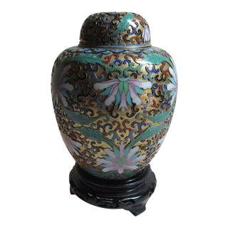 Chinese Cloisonné Brass Ginger Jar