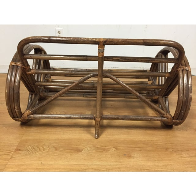 Paul Frankl Style Child's Rattan Sofa - Image 6 of 9