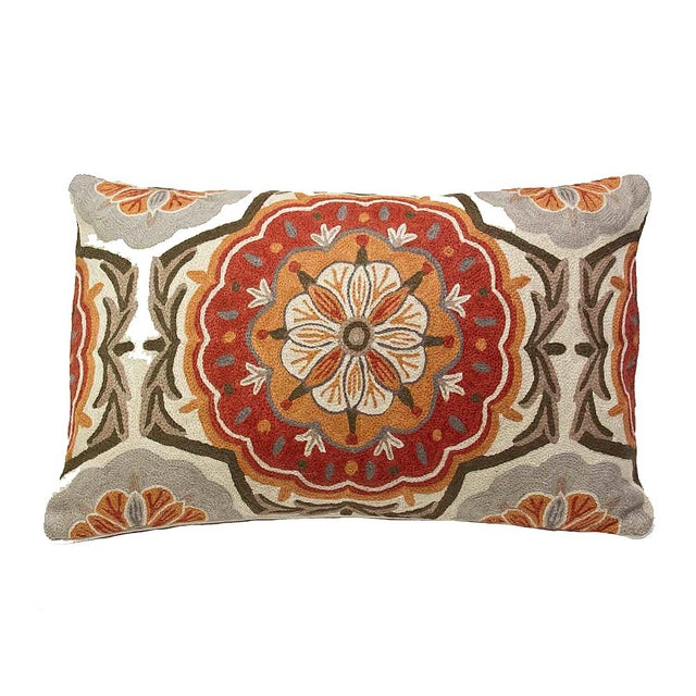 Mandala Embroidered Pillow - Image 1 of 2