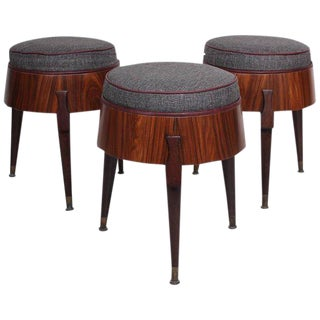 Set of Three Stools Attributed to Eugenio Escudero