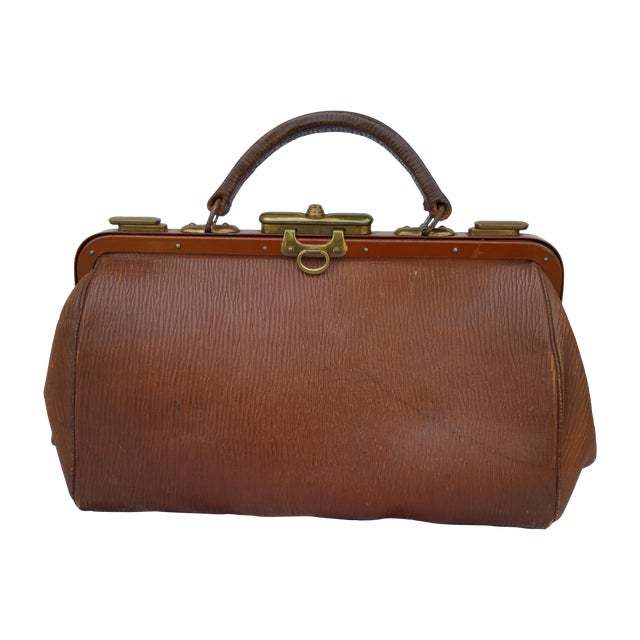 Victorian Leather Gladstone Bag - Image 1 of 7