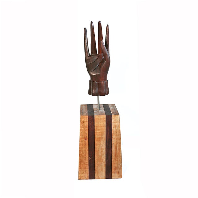 Image of Vintage Carved Hand Sculpture