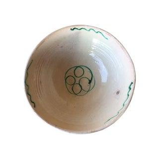 Antique Italian Rustic Glazed Terracotta Bowl