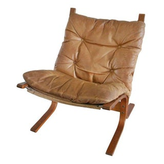 Scandinavian Style Leather Slingback Chair
