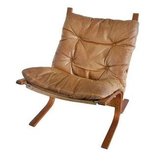 Scandinavian Style Leather Slingback Chair