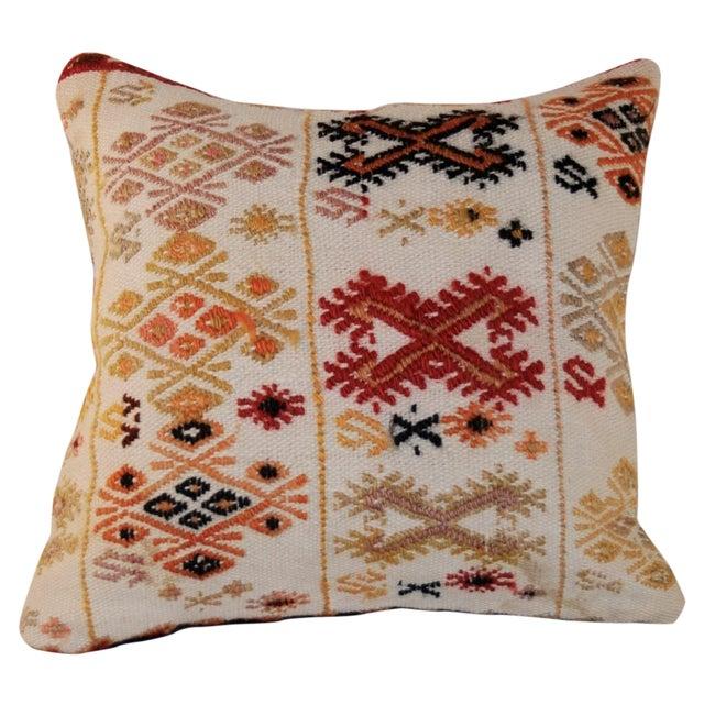 Vintage Square Handmade Bohemian Kilim Pillow - Image 1 of 5