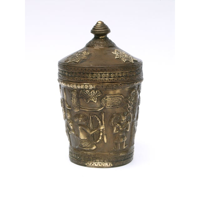 Decorative Indonesian Bronze Jar - Image 5 of 6