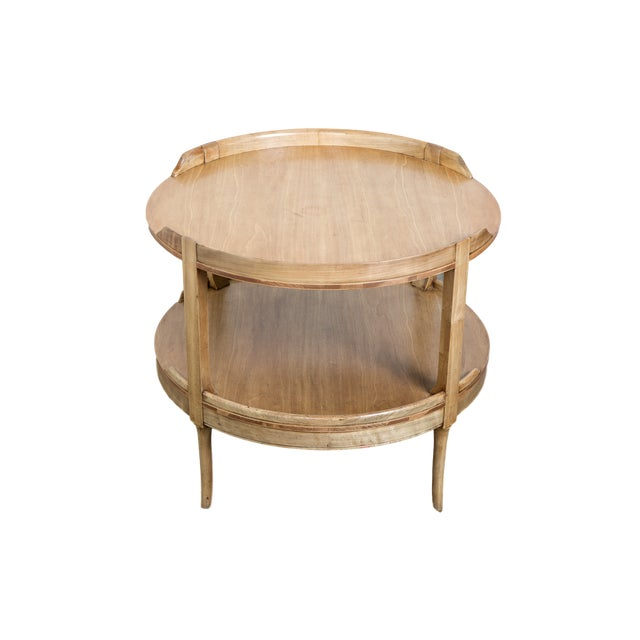 2-Tier Mahogany Table - Image 3 of 3